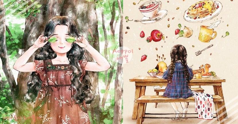 一個人的好,只有單身中的妳知道!19萬人都在追的韓國插畫家Aeppol,帶妳體驗「單身的幸福」
