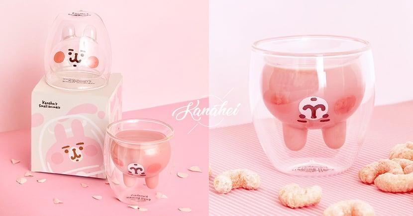 萌出新高度!卡娜赫拉最新限定「兔兔雙層玻璃杯」全台瘋搶~網:比「貓掌杯」更可愛♡