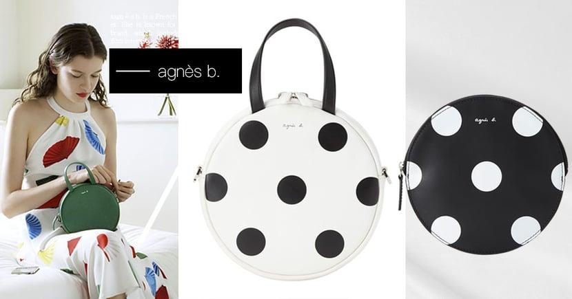 「agnès b.點點圓寶包」好燃!2019春夏全新「Marion波卡圓點」系列公開~要萌要優雅一包搞定♡