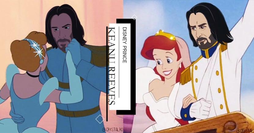「如果基努李維變成迪士尼王子...」藝術家繪製系列插圖引全網熱議♡