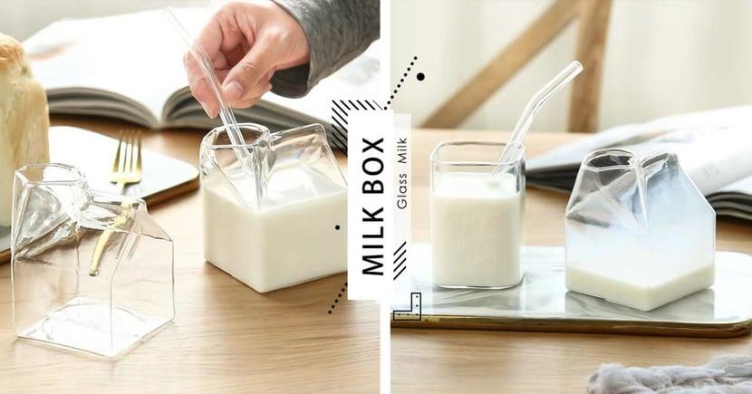 極致夢幻「午餐牛奶玻璃罐」!全透明杯身還能加熱~喝牛奶療癒更升級啦