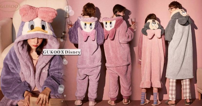 融化惹~GUKOOXDisney 毛絨睡衣、睡袍可愛登場~就穿著它度過冬天吧♡