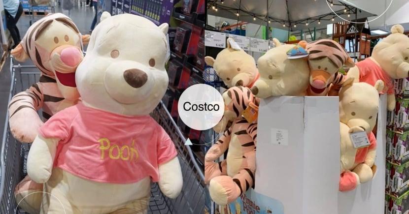 維尼粉絲站出來!Costco 開賣74公分「小熊維尼、跳跳虎」巨大娃娃,一隻居然不用700元?
