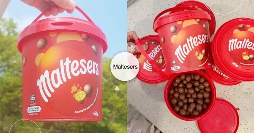 這樣才夠吃!韓國「麥提莎巧克力球」乖乖桶容量,追劇邊吃大滿足~網友分享各種超強吃法
