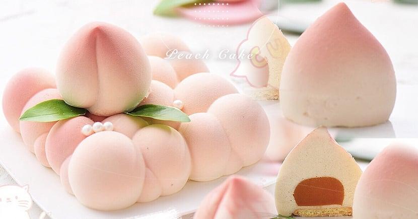 【水蜜桃季節】超可愛桃子慕斯手把手教你做!水蜜桃+芒果酸甜口感超療癒
