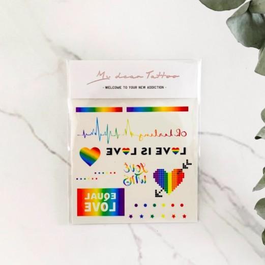 紋身貼紙 彩虹 婚姻平權 愛最大 同志LGBT