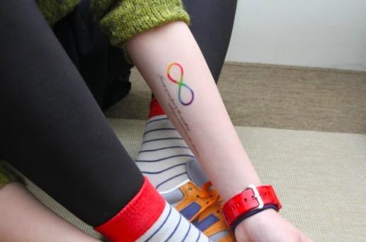 鹿角 刺青 紋身貼紙