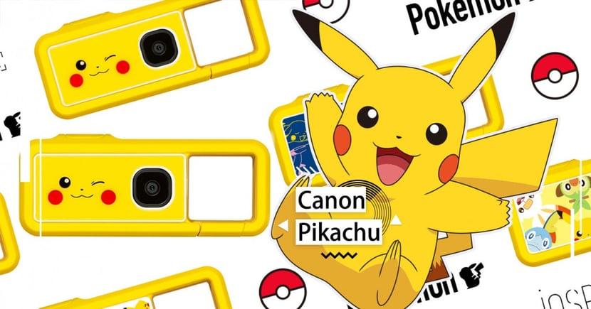Canon「皮卡丘迷你相機」賣萌推出~8款相機背殼隨時替換♡