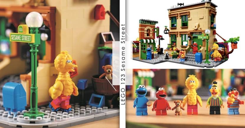 樂高迷注意!LEGO「芝麻街」主題系列來了~ELMO、大鳥經典人物+場景神還原