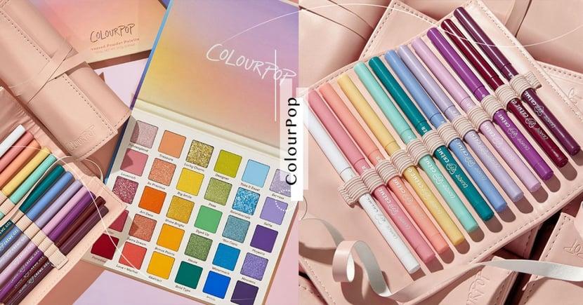 Colourpop「30色彩虹眼影盤」+眼線膠筆夢幻無極限!超療癒組合掀熱議