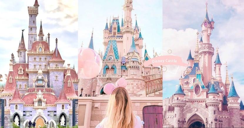 延續童話夢!精選30張夢幻迪士尼城堡桌布~超絕美粉色城堡一圓公主夢♡