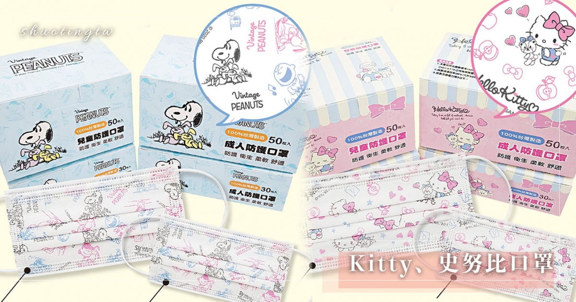 Hello Kitty、史努比口罩來了!超萌史努比+粉紅字樣少女心噴發,加碼推薦三麗鷗家族口罩