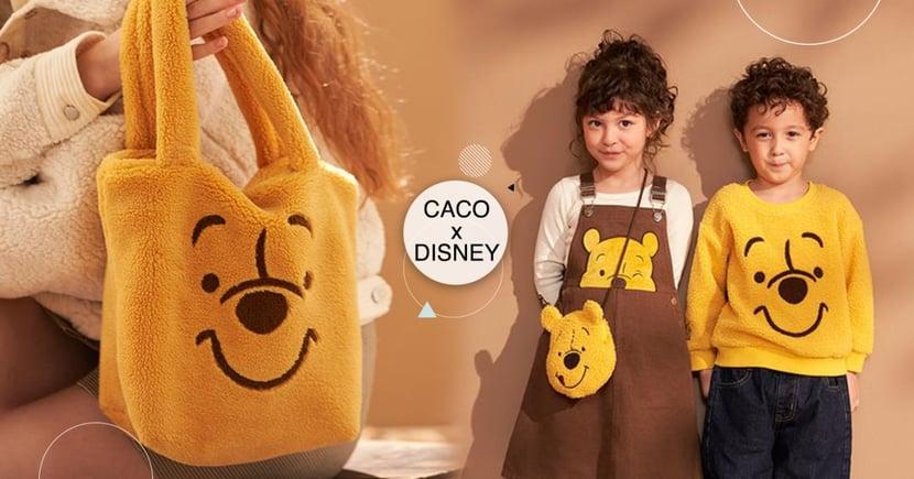 CACO「迪士尼毛毛包」Q炸!小朋友「維尼大頭包」太萌,姊姊搶來自己背♡