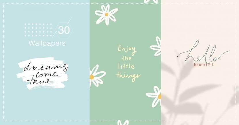 30張「簡約文青手繪風」手機桌布推薦!溫柔莫蘭迪色+暖心英文語錄,每天都為自己打氣