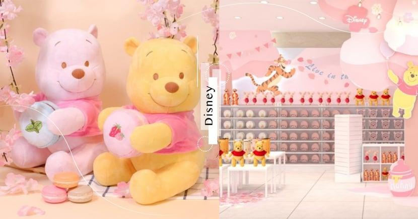 迪士尼粉嫩季快閃店將全台巡迴!櫻花色系小熊維尼、奇奇蒂蒂全都有賣~限量維尼超可愛♡