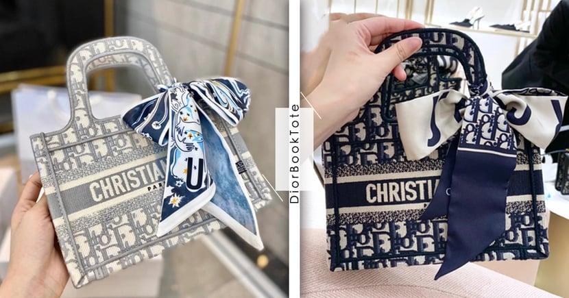 裝得下可愛就足矣!Dior「冰川石灰」迷你Tote討論度爆表~綁上蝴蝶結整個萌度再加倍